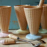 Vintage Ice Cream Dishes