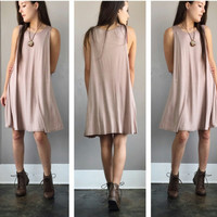 A Basic Tank Dress in Mocha