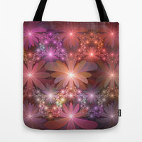 Bed Of Flowers Abstract, Fractal Art Tote Bag by Gabiw Art
