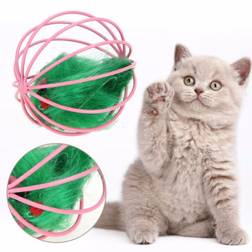 FREE Mouse in a Cage Ball Cat Toy  1 Piece of Random Color