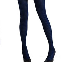 SACAS Sexy Houndstooth Print Opaque Tights Stockings 7 colors XS ~ M