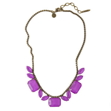 BLYTHE NECKLACE IN ELECTRIC PURPLE