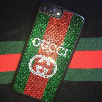GUCCI 2018 Hot Sale! iPhone X iPhone 7 iPhone 8 plus - Stylish Shiny Diamond Cute On Sale Hot Deal Matte Couple Phone Case For iphone 6 6s 6plus 6s plus