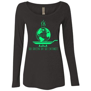 Global Warming Go Green Or Go Extinct Shirts For Men & Women