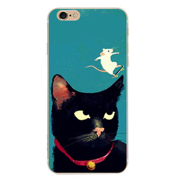 Cat and Mouse Case Cover for iPhone 6 6s Plus iPhone 7 7plus + Gift Box-461