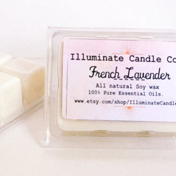 French Lavender Wax Melts| Wax Tarts| Handmade| Essential oils| Soy Wax| Gifts for her|