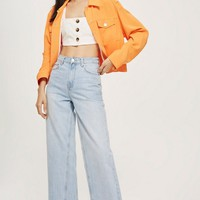 MOTO Bleach Cropped Wide Leg Jeans | Topshop