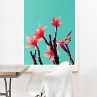 Deb Haugen North Shore Plumeria Art Print And Hanger