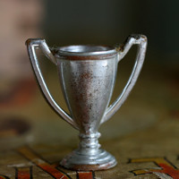 Miniature Trophy, Doll House Scale Silver Trophy.
