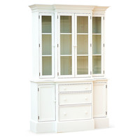 """Beach House 57"""" Display Cabinet, White, Cabinets & Hutches"""