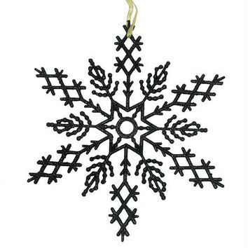 2 Commercial Snowflake Ornaments - Color:jet Black