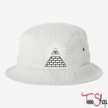all seeing eye bucket hat
