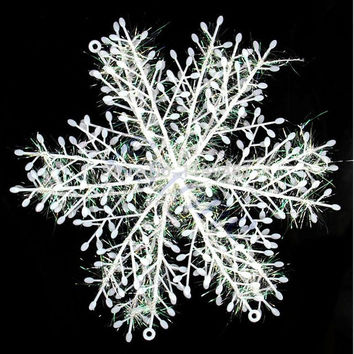 F85 Free Shipping 60pcs/lot Wall Windows Decor Christmas Snowflake Hanging Decorations 6cm