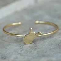 Altar'd State Dainty Cuff Bracelet - West Virginia - Game Day / State Pride