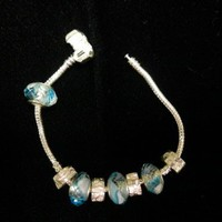 Bracelet with 8 Dion beads | CShoresInc - Jewelry on ArtFire