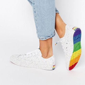 Converse | Converse Pride Rainbow Speckle Chuck Taylor Trainers at ASOS