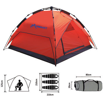 3-4 Person Automatic Double Layer Tent