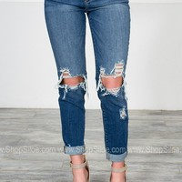 Sexy Boyfriend Distressed Denim