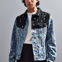 BDG X Riverside Tool & Dye Hand Painted Denim Trucker Jacket | Urban Outfitters