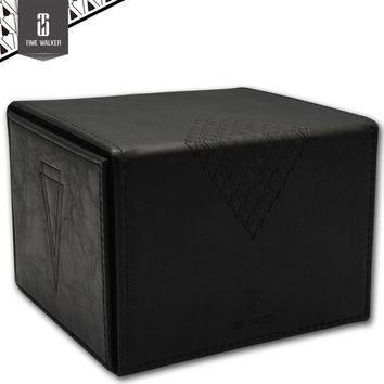 Black leather handmade  Board game cards box the magical gathering collection Yu-Gi-Oh board games accessories case container