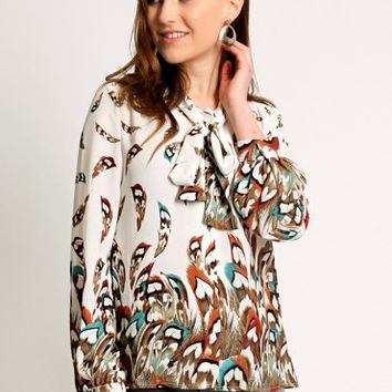 Natural Grace Printed Blouse