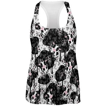 Cute Mad Cow Pattern All Over Womens Work Out Tank Top