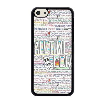 ALL TIME LOW WRITTING iPhone 5C Case Cover