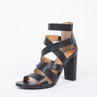 Criss Cross Block Heels