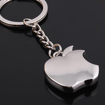 2017 New Arrival Silver Mini Apple Keychain Top Quality Fashion Key Chain for Men Women Best Birthday Valentine's Day Gift