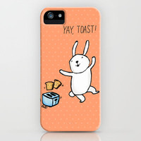 Yay, Toast! iPhone Case by Dale Keys