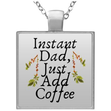 7 instant dad UN4684 Square Necklace