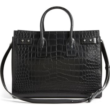 Saint Laurent Small Sac de Jour Croc Embossed Leather Tote | Nordstrom
