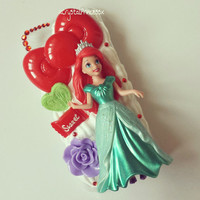 Disney The Little Mermaid Princess Ariel Kawaii Whipped Cream Clay Decoden Iphone 5c Phone Case/Cover