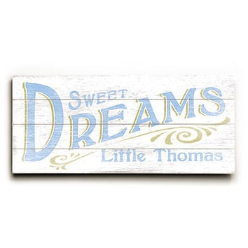 Personalized Sweet Dreams Boy Wood Sign