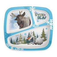 Zak! Designs® Disney® Frozen Olaf Divided Kid's Dinner Plate
