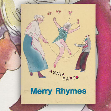 Merry Rhymes by Agnia Barto, Drawings by V. Goryayev (In English). Hardcover, 8''x10'' -- 1976, Condition 7/10