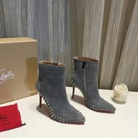 Christian Louboutin/CLwomen Casual Shoes Boots fashionable casual leather