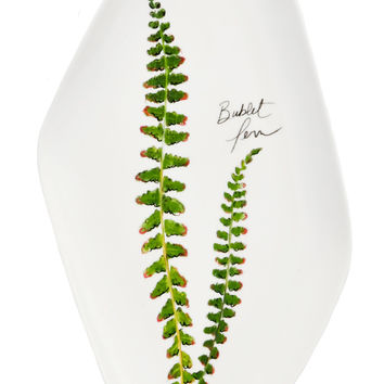 Botanical Fern Ceramic Tray
