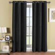 Soho Black Grommet Blackout Window Curtain Panel