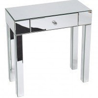 Ave Six Reflection Mirror Finish Foyer Hall Table