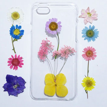 Pressed Flower samsung galaxy s6 case, iPhone 6s Case Floral, iPhone 5s Case Clear, iPhone 5c Case,   pressed flower samsung galaxy case