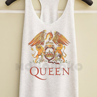S M L -- Queen Band Shirts Queen Shirts Rock Top Shirts Women Tank Top Racer Shirts Racer Tank Women TShirts Women T-Shirts