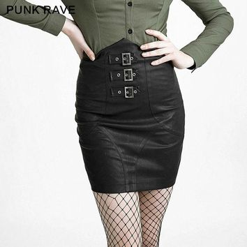 DCK9M2 2016 Autumn Fashion Skirts Womens Vintage Punk Rave Tight A-Line Casual Skirt