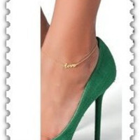foot jewelry love charm Anklets nice gift for women