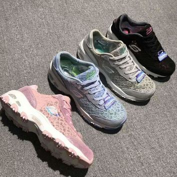 Kalete Skechers Breathable Lace fabrics casual shoes H-A36H-MY