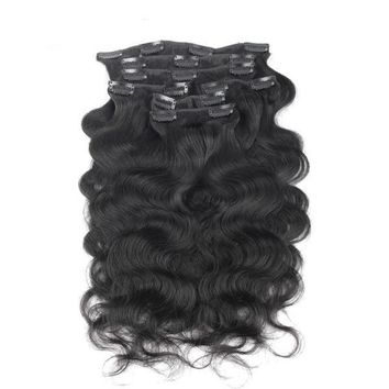 Brazilian Body Wave Human Hair Clip In Hair Extensions