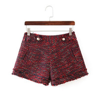 Winter Women's Fashion Pants Slim Shorts [6034462849]