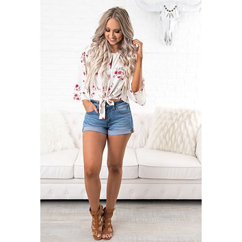 Think Twice Floral Top (Ivory)