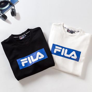 Trendsetter  Fila Couple  Fashion Cotton  Long Sleeve  Top Sweater