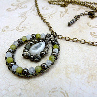 GBK's Primetime Emmys Gift Lounge, Press Gift Replica Necklace - Gunmetal & Gemstones Collection